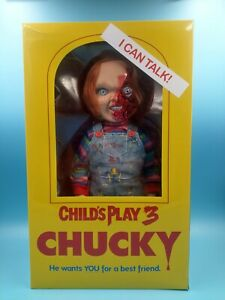 New-Figurines-Child-Play-3-Pizza-Face-Chucky-Talking-Doll-Film-Horror