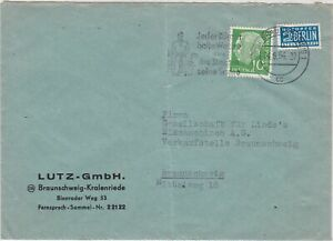 Germany 1954 Slogan Cancel Obligatory Tax Aid for Berlin Stamps Cover Ref 26487
