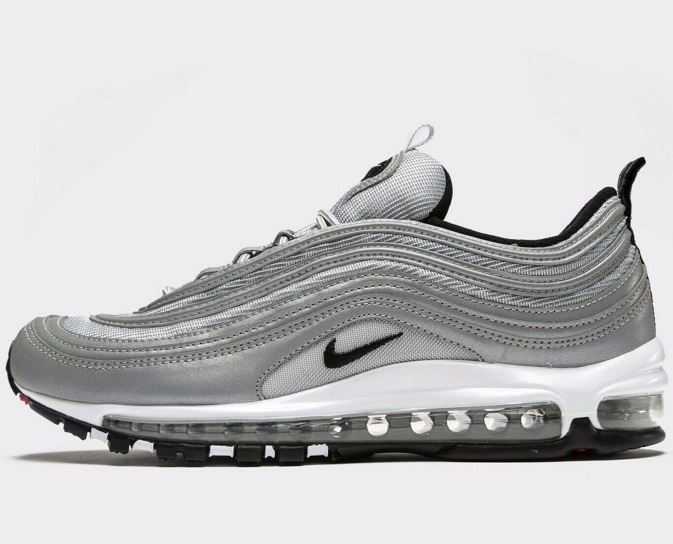 Authentic Nike Air Max 97 Premium ® ( Men Größes UK  7.5 & 13 ) Metallic Silber