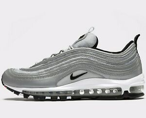 Details zu Authentic Nike Air Max 97 Premium ® ( Men Sizes UK: 7.5 & 13 ) Metallic Silver