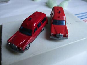 Wiking-H0-Mercedes-200-Fw-Krankenwagen-5-Modelle-unbespielt-im-Karton
