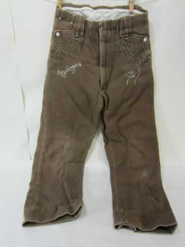 Vintage Sears Brand- Roy Rogers - Boys Brown Pants