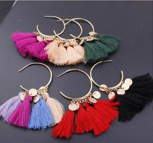 Women-Fashion-Bohemian-Earrings-Long-Tassel-Fringe-Boho-Dangle-Jewelry