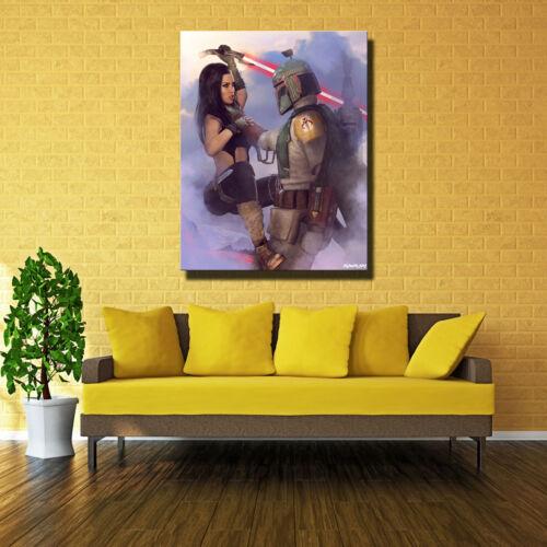 Home Decor Art Print on Canvas Poster Dylan Kowalski Boba Fett Sith 20X24
