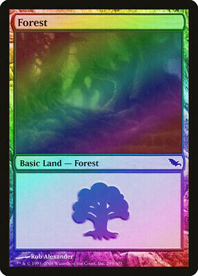 Forest (299) Foil Shadowmoor Nm-m Basic Land Magic The Gathering Card Abugames