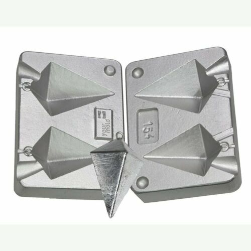 Pyramid Weight lead  Mold for sea fishing 130-180 grams aluminium