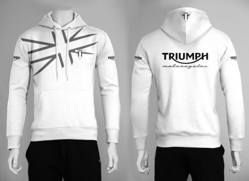 Felpa con cappuccio TRIUMPH bonneville street speed triple uomo maglia maglietta
