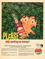 1960 vintage soft drink AD  Dr. Pepper Soda Dr. Pepper Time Eydie Gormet 060715
