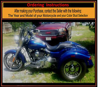 Harley Trike Freewheeler Saddle Shield Mid Frame HEAT Deflectors USA Made