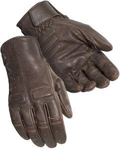 Cortech Mens Cafe Brown Heckler Leather Motorcycle Gloves Ebay
