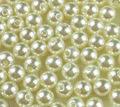 Top Quantity Cream/Pink Acrylic Round Pearl Spacer Loose Beads 4mm 6mm 8mm 10mm