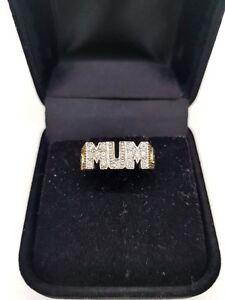 375-9CT-Yellow-Gold-Diamond-MUM-Ring-0-225-carat-fully-hallmarked