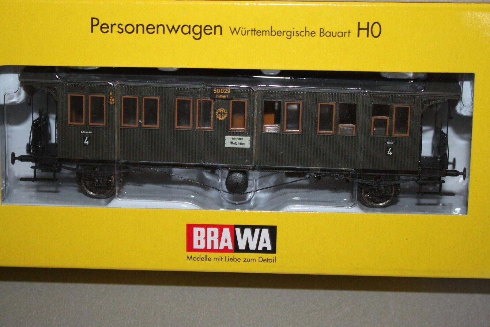 Brawa Brawa Brawa 2151 2-Achser Personenwagen 4.Klasse Di DRG Spur H0 OVP c449b7