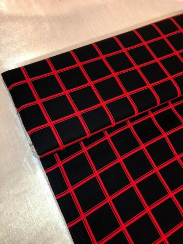 """1 METER BLACK//RED CHECKERED PRINT 100/% COTTON FABRIC 45"""" WIDE JUST ARRIVED"""