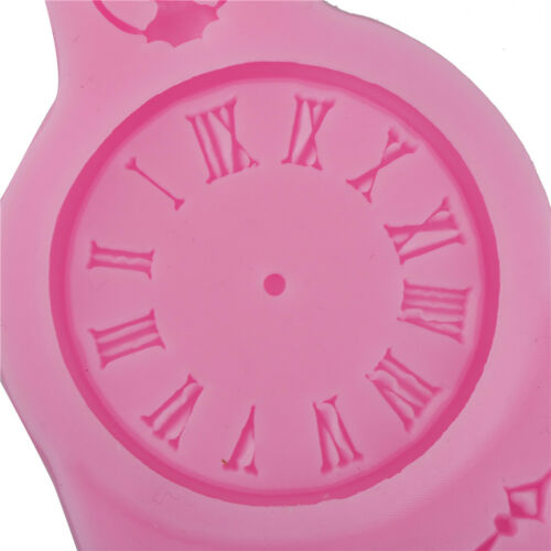 Clock Shape 3D Baking Sugarcraft Mold DIY Candy Clay Silicone Chocolate Mould ZN