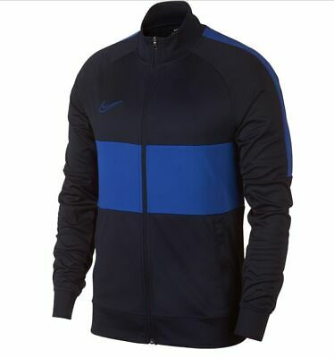 a la deriva nitrógeno feo  Nike 2019 Dri-Fit Academy I96 Knit Training Full Zip Soccer Jacket Navy /  Sky | eBay