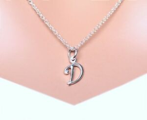 Sterling-Silver-Simple-Cursive-Initial-Name-Charm-Necklace-16-034-18-034-CHOOSE-LETTER
