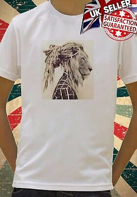 Lion Kid/'s T-Shirt Children Boys Rastafarian Girls Unisex Top Jamrock Rasta