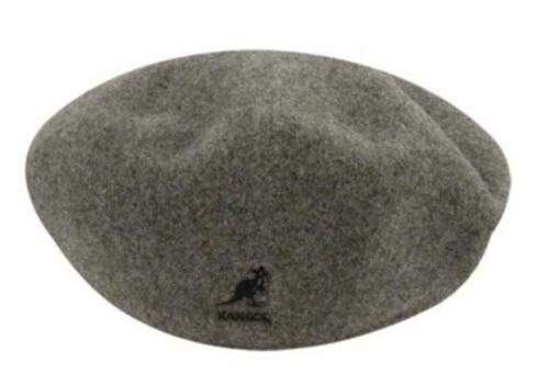 S KANGOL Hat 504 Wool Flat Beret Cap 0258BC Winter Grey //Flannel Sizes XL