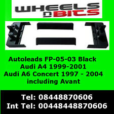 Autlleads FP-05-03 AUDI A4 A6 Avant Black Fascia Facia Adaptor Panel Surround