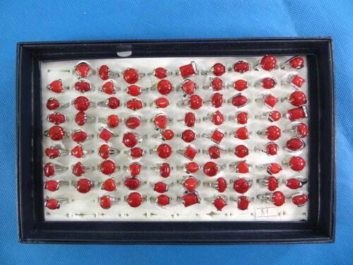 US Vendeur-Lot de 10 mixte couleur Pierres et Agate Stone fashion rings