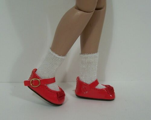 """RED Patent Mary Jane Doll Shoes w//Satin Bow For 12/"""" Marley Wentworth Debs"""