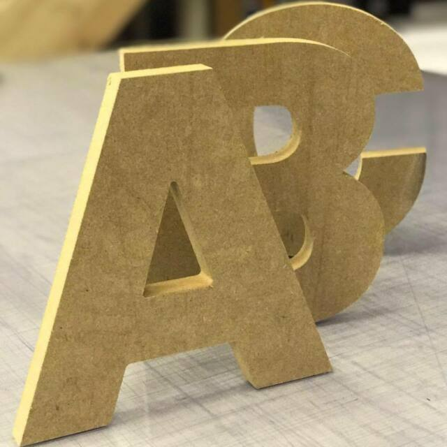 18mm Thick Mdf Wood Letters Numbers Choice Of Heights Small 10cm To Large 60cm