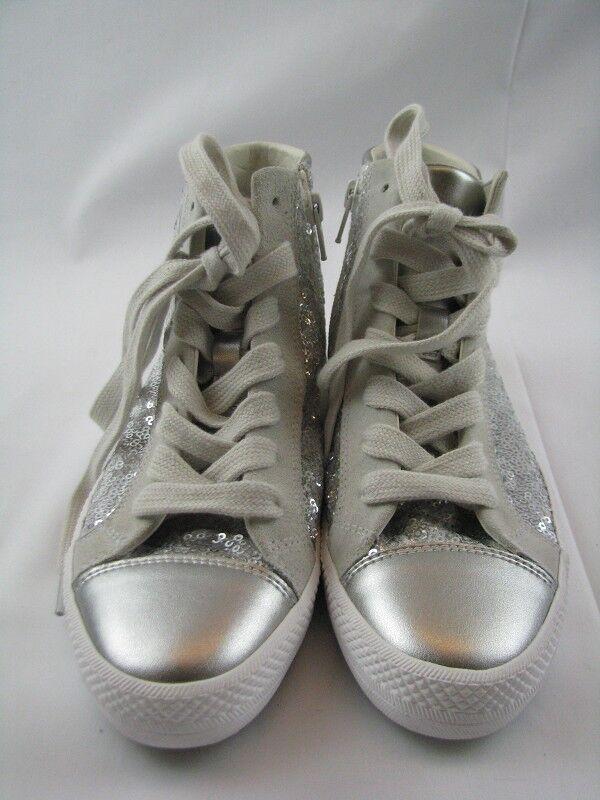 Geox d829fa Sneaker Sneaker Sneaker Femmes en argent avec paillettes taille 37 1a4c7b