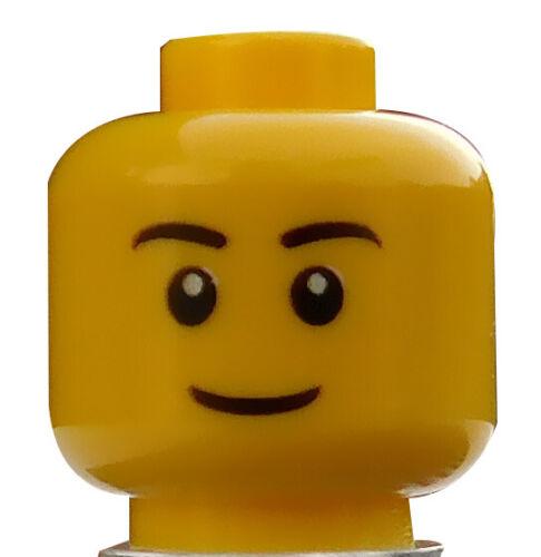 LEGO Tête en jaune sympathique visage noirs sourcils 3626cpb0628 NEUF