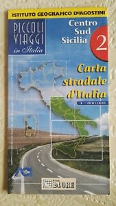 Cartina Stradale Italia Centro Sud.Carta Stradale D Italia 2 Centro Sud Sicilia 1 800000 Deagostini Il Sole 24 Ore Ebay
