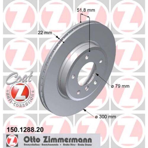 2 Zimmermann Bremsscheiben vorne BMW Z3 Z4 E46 Coupe Compact