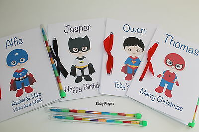 A6 Personalised Childs Wedding Xmas Party Favour Activity Pack Book SUPERHERO
