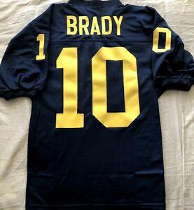 Tom Brady Michigan Wolverines stitched navy blue football regular ...