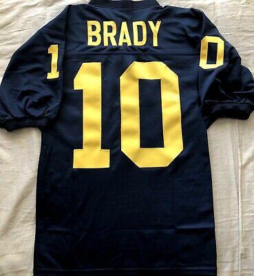 Tom Brady Michigan Wolverines stitched navy blue football regular cut jersey NEW   eBay
