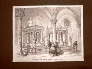 Nella Chiesa di Roskilde nel 1863 Le tombe dei Re Danimarca - Italia - Nella Chiesa di Roskilde nel 1863 Le tombe dei Re Danimarca - Italia