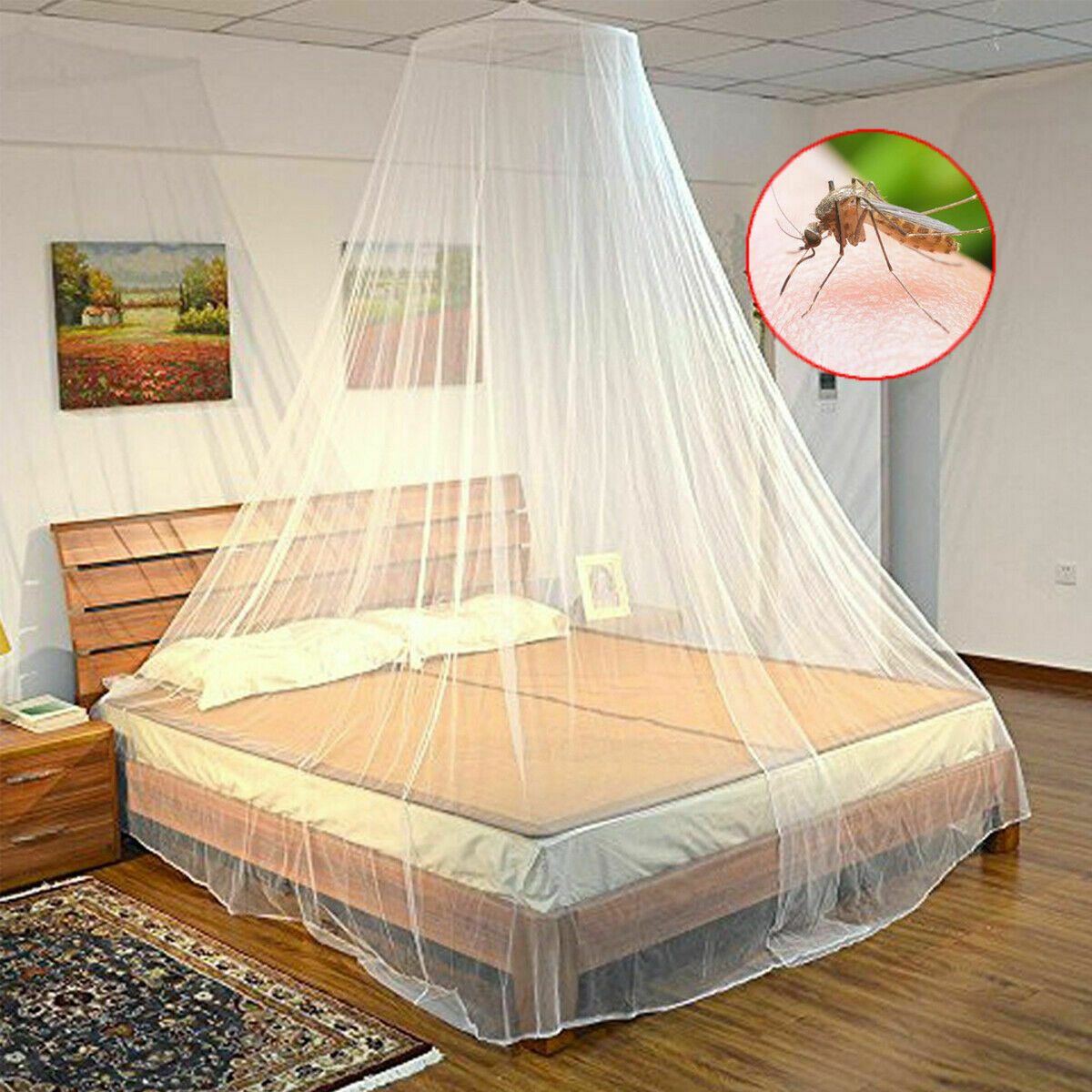 - Kids Girl Bedroom Lace Bedding Round Dome Bed Canopy Crown