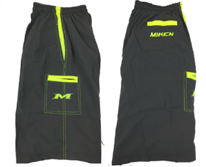 Miken Microfiber Shorts GREY//VOLT LARGE