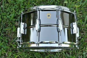 LUDWIG-USA-8-034-or-8X14-BLACK-BEAUTY-SNARE-DRUM-MODEL-LB408-small-keystone-G635