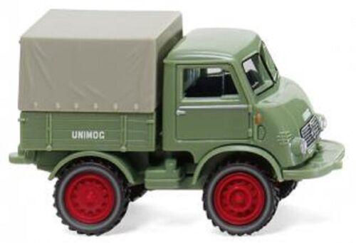 1:87 Wiking 036802-Unimog u 401 verde pálido /_ nuevo//en el embalaje original