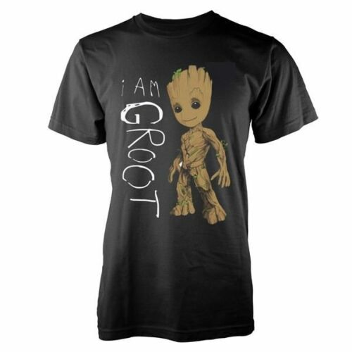 New Official Marvel Guardians of the Galaxy Vol 2-I Am Groot Gribouillis T-Shirt