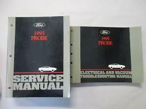 1995    FORD PROBE    SERVICE    SHOP    REPAIR    MANUAL   WIRING    DIAGRAMS    SE   eBay