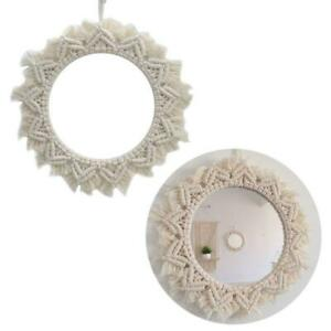 Mirror Macrame Wall Hanging Room Hand Woven Decor For Living Room Apartment Ebay
