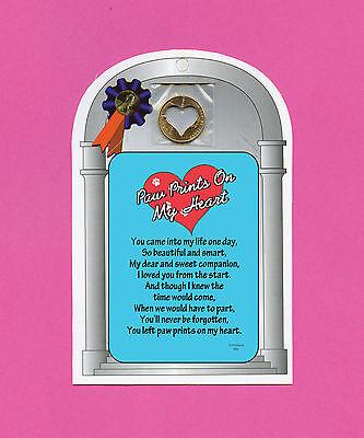 """Paw Prints On My Heart"" Poem - Verse Card w/ Heart Cut ..."