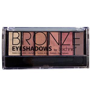 Technic Bronze 6 Colour Eye Shadow Palette Bronzed Shades