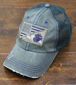USMC United States Marine Corps - EGA-US Flag Patch Mesh Hat Olive ... 59c5271dbe0