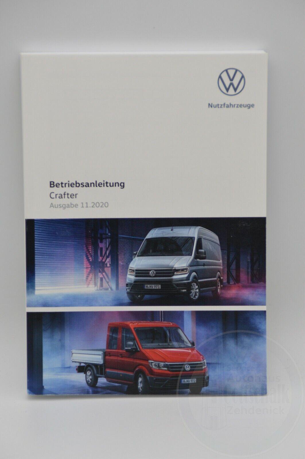 Original VW Crafter Bedienungsanleitung Betriebsanleitung Handbuch Bordbuch 11/2020 7C0012705AK