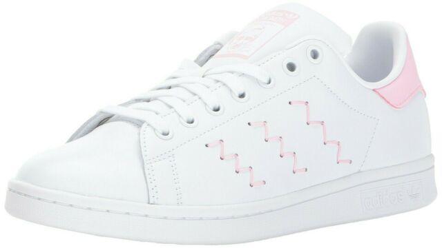 New Adidas Stan Smith BZ0401 Women Zig Zag Sneakers White Pink