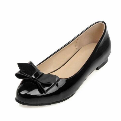 Details about  /Women/'s Bowknot Slip On Flat Shoes Fashion Pumps Wedding Comfy Loafers Shoes B