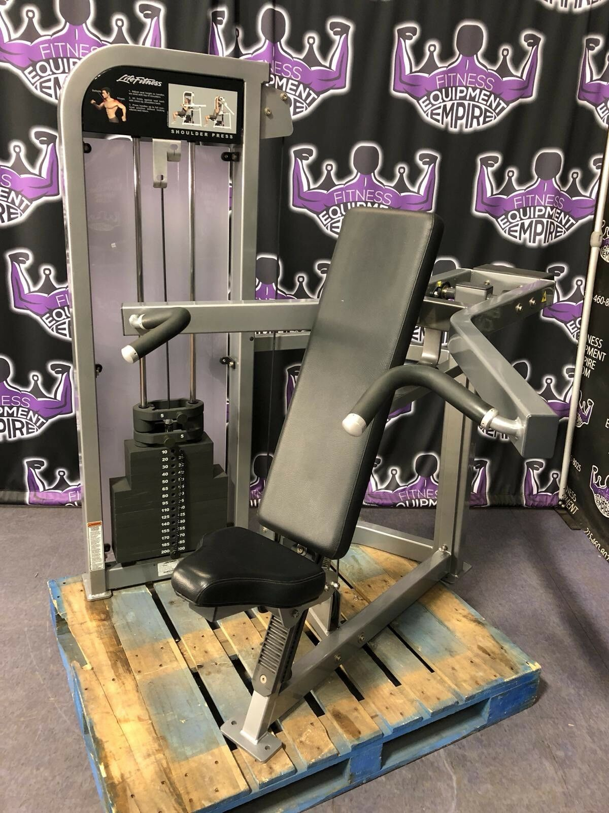 Life Fitness Pro 2 Platinum Shoulder Press - BUYER PAYS SHIPPING