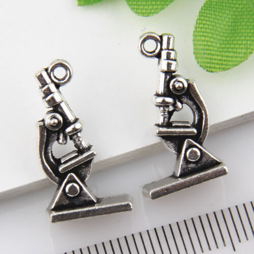 15Pcs Tibetan Silver Microscope Pendants Charms 21*11mm 1A1809